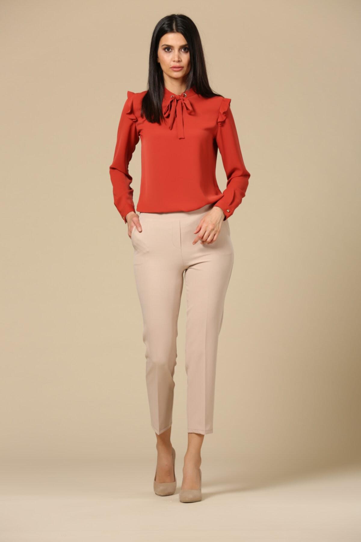 EMBENUR Kadın Gri  Pantolon 2