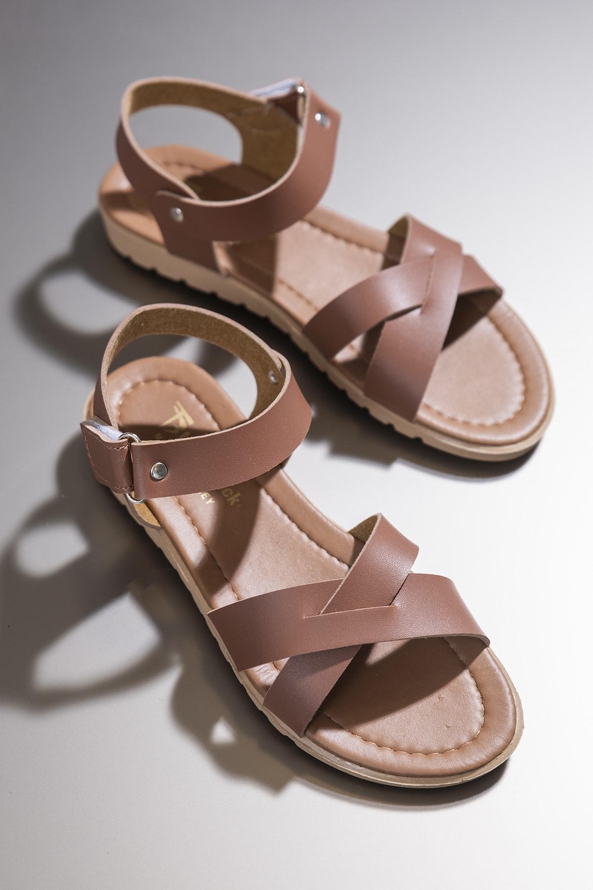 Tonny Black Kadın Sandalet Taba Tbsnd 1
