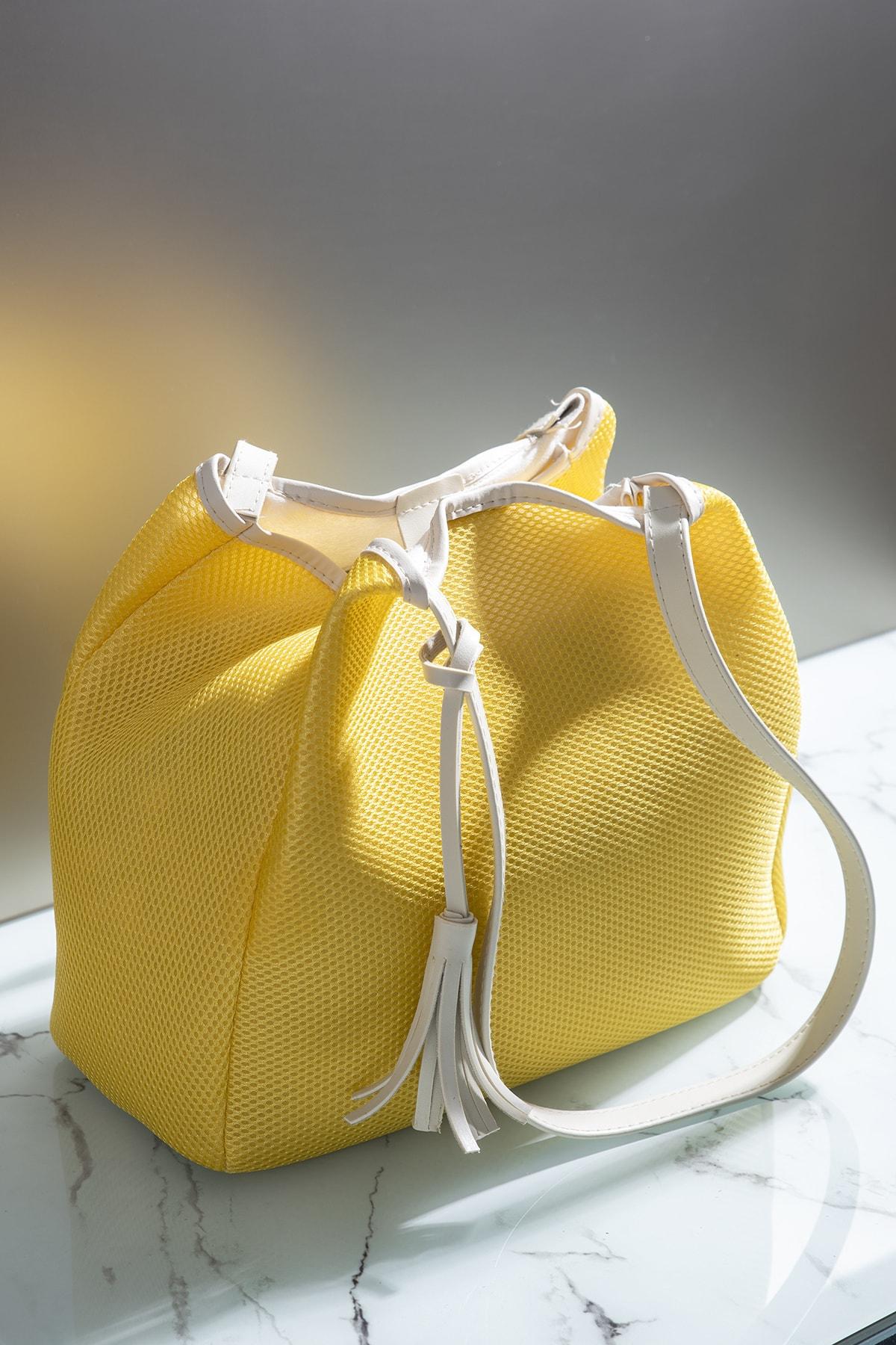 Tonny Black Kadın Çanta Sarı Beyaz Tbc05 1
