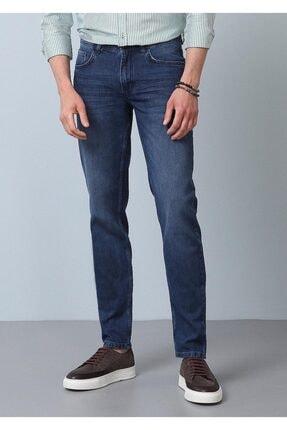 Ramsey Erkek Lacivert Düz Denim Pantolon RP10120017