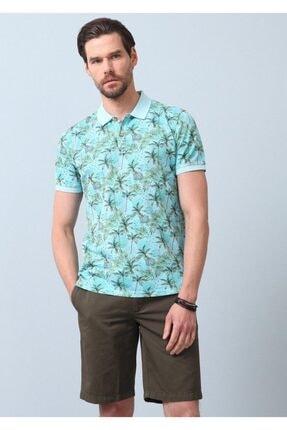 Ramsey Erkek Turkuaz Baskılı Örme T - Shirt RP10120143
