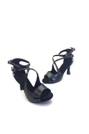 REAL KOSTÜM Kadın Topuklu Siyah Dans Ayakkabısı