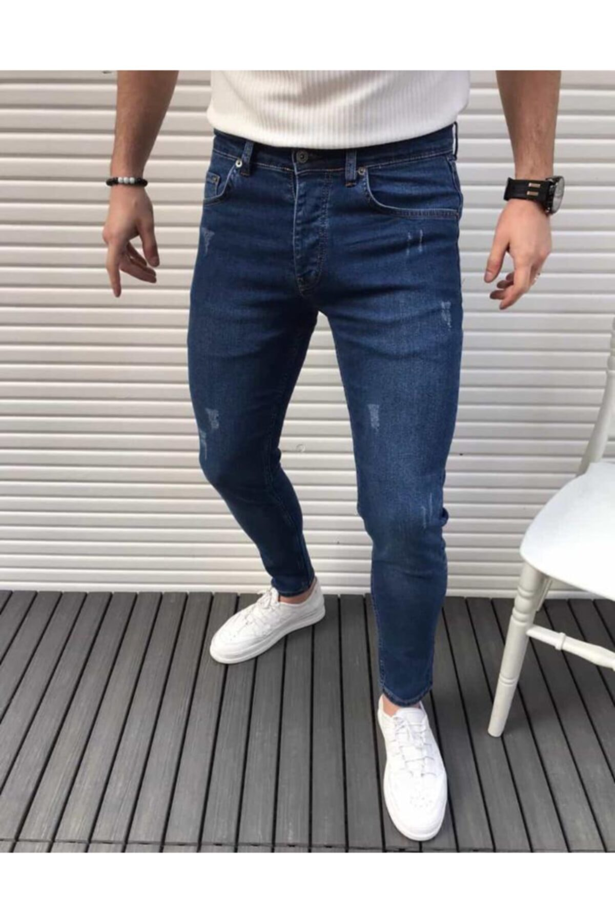 h&ç giyim Erkek Kot Pantolon Lacivert 2
