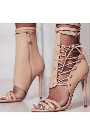 TANEM ÇELİK Kadın Bej Deri Topuklu Ayakkabı