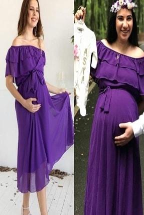 MACFLY Carmen Yaka Fırfır Elbise