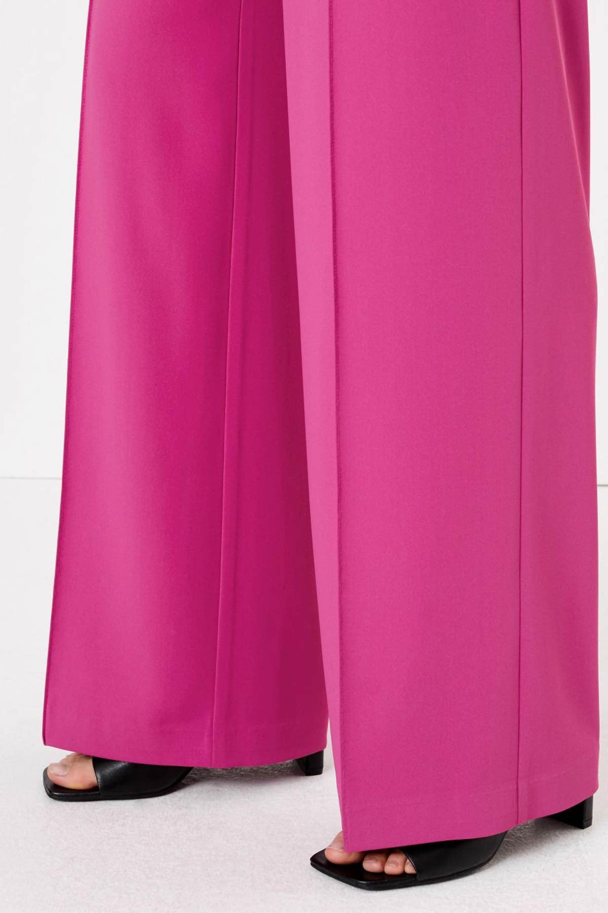 Marks & Spencer Kadın Mor Bağcıklı Wide Leg Pantolon T59006462 2