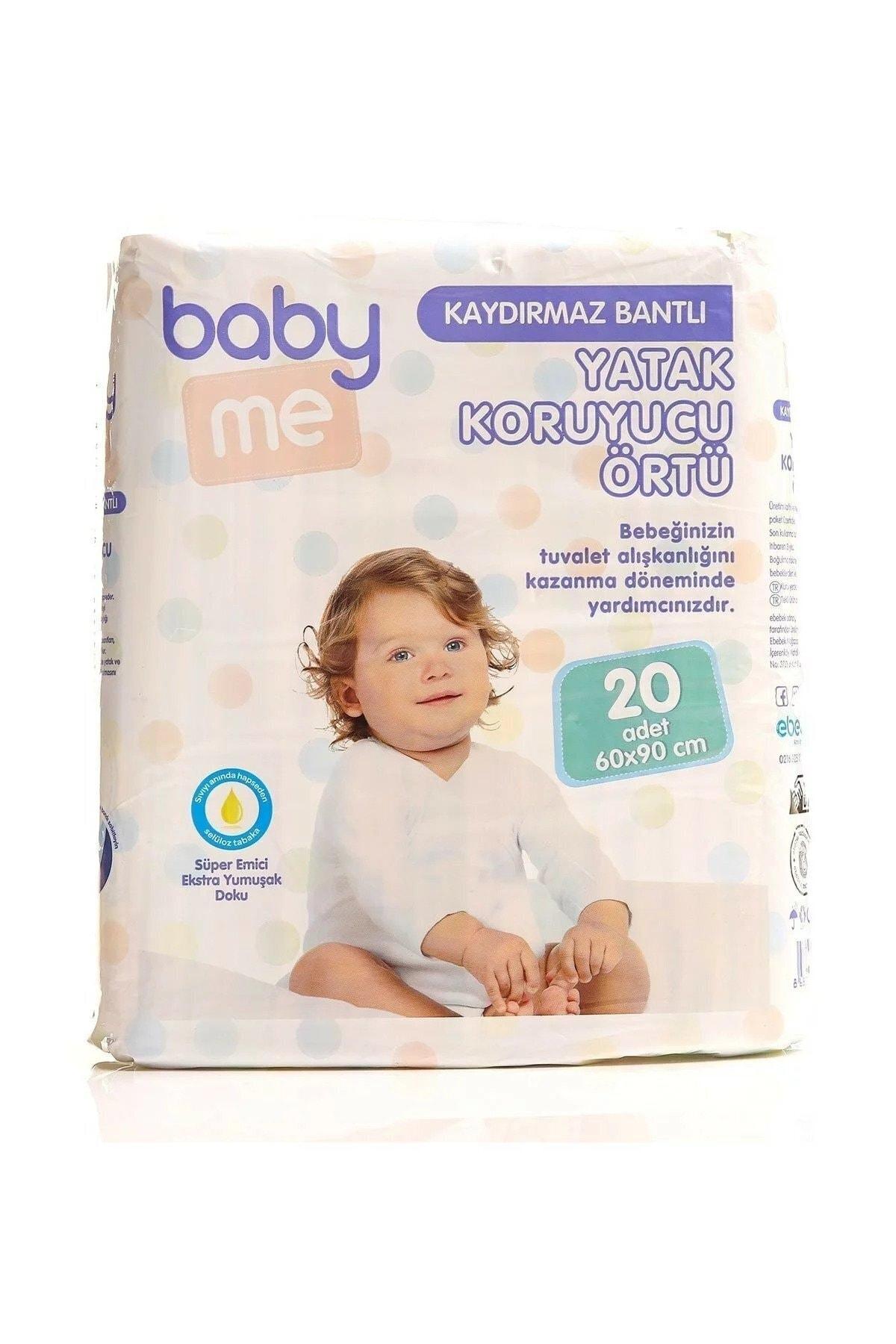 Baby&Me Kaydırmaz Bantlı Yatak Koruyucu Örtü 60x90 cm 20 adet 1