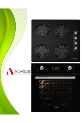 Altus Alveus 2li Dijital Turbo Siyah Cam Ankastre Set(ocak+fırın)