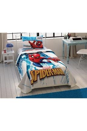Taç Tek Kişilik Lisanslı Pike Takımı Spiderman City