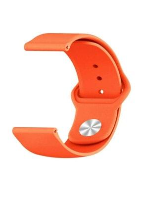 Omelo Huawei Watch Gt2 46mm Spor Kordon Mat Düz Renkli Silikon Turuncu Hediyeli