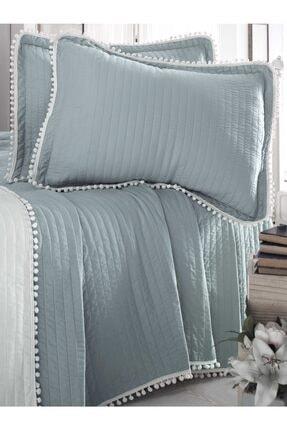 Evim Home Çift Kişilik Ponponlu Yatak Örtüsü Set