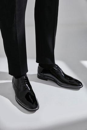 Hotiç Hakiki Deri Siyah Erkek Klasik Ayakkabı 02AYH138970A100
