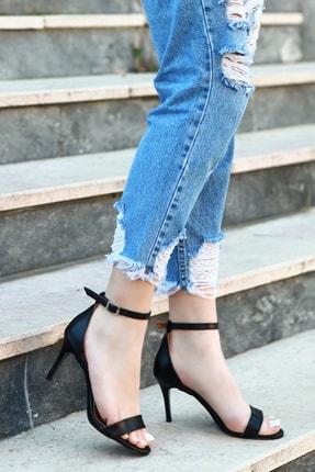 TRENDBU AYAKKABI Kadın Siyah Topuklu Ayakkabı