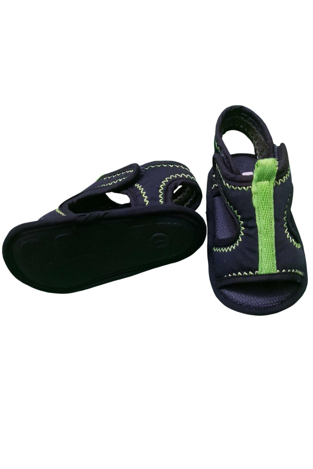 Funny Baby Elegance Cırtlı Bebek Sandalet Lacivert-neon 2