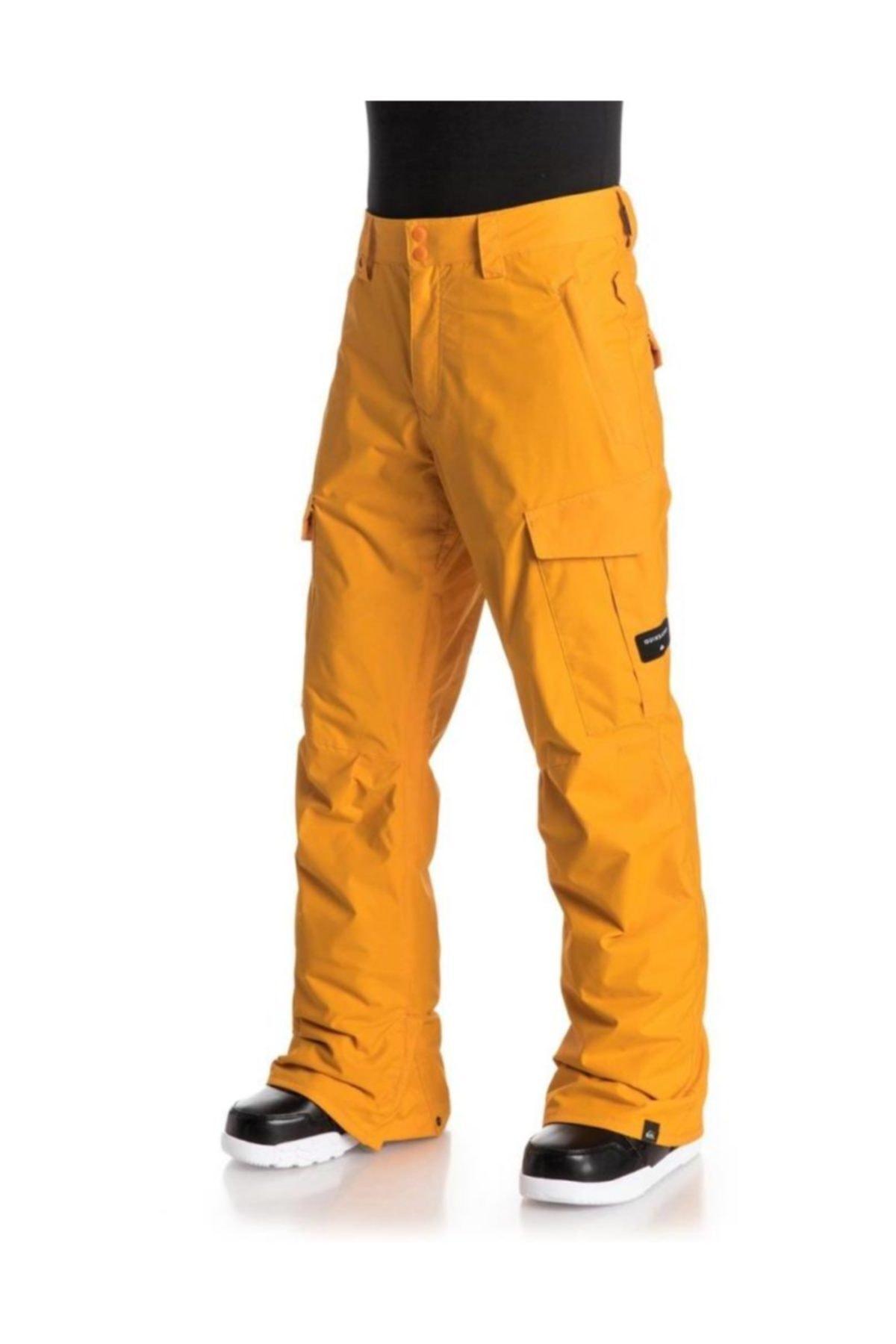Quiksilver Porter Ins Erkek Kayak ve Snowboard Pantolonu Sarı 2