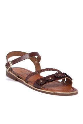 Tergan Kadın Kırmızı Deri Sandalet 64533o7t