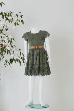 Pafim Kız Çocuk Yarım Kol Dantel Elbise