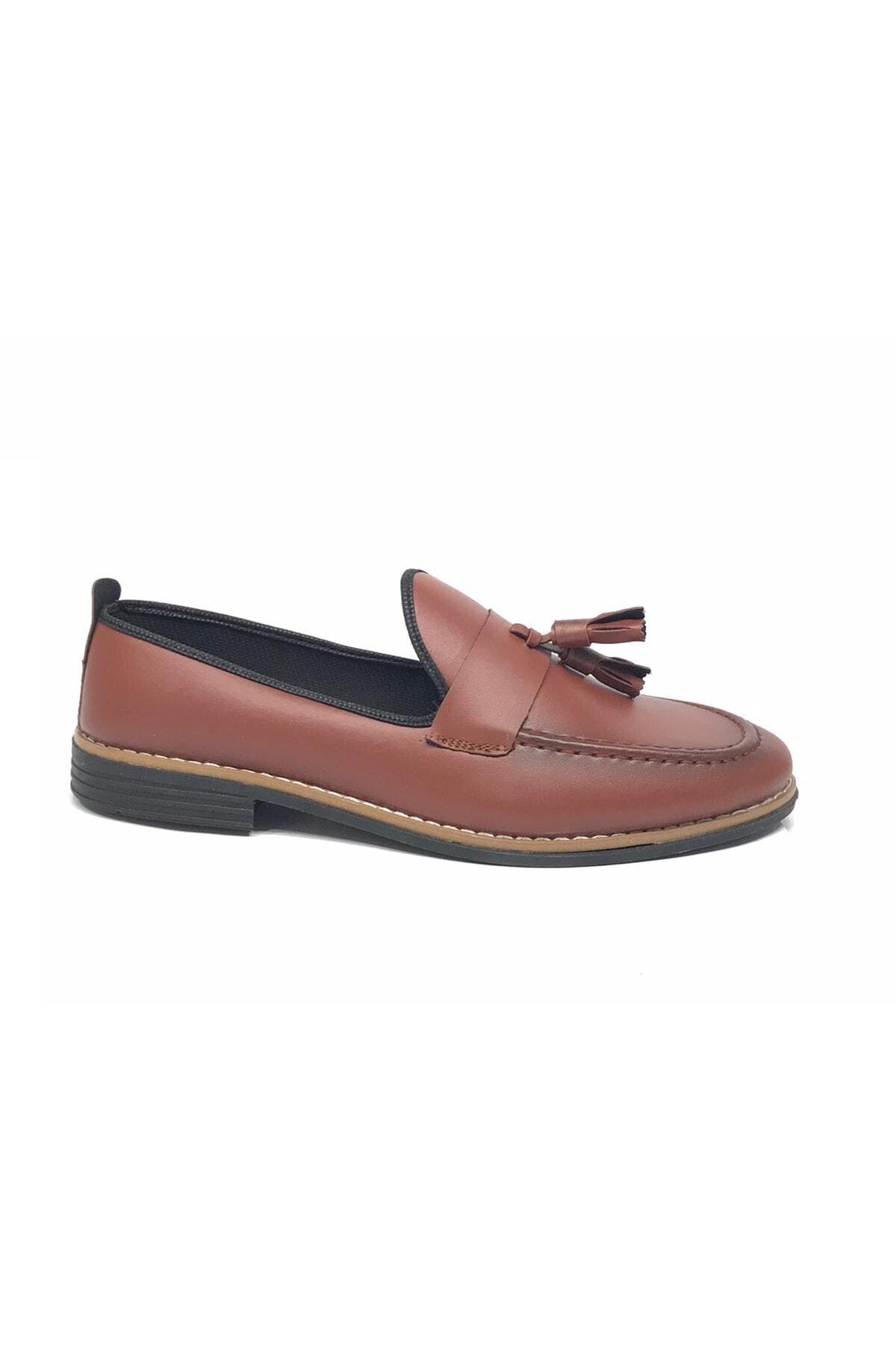 Almera Erkek Kahverengi Babet Ayakkabı 2