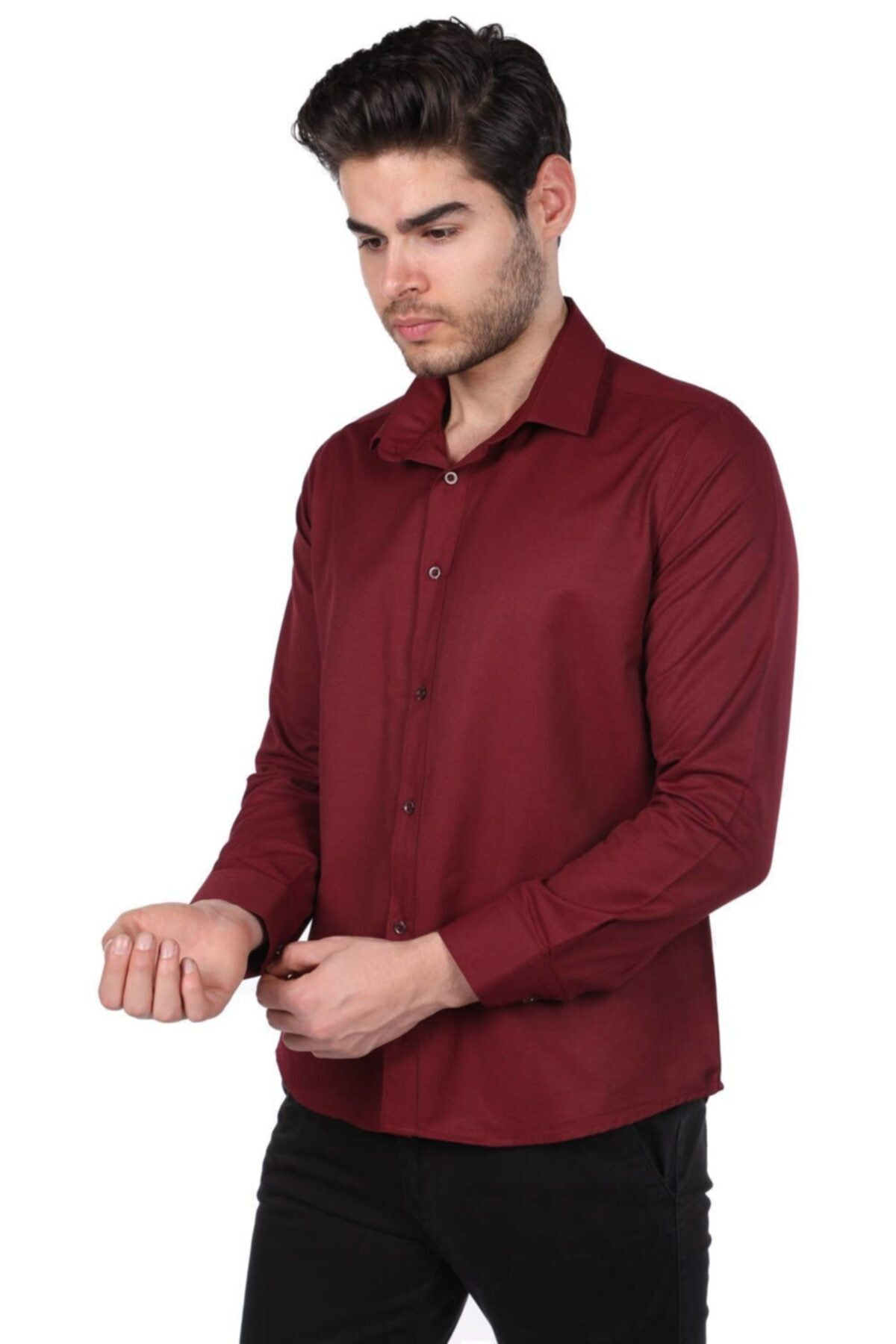 Phazz Brand Erkek Düz Gömlek 2