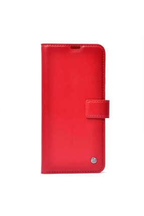 Mobilteam Samsung Galaxy A30 Kılıf Kapaklı Pocketdelux - Kırmızı