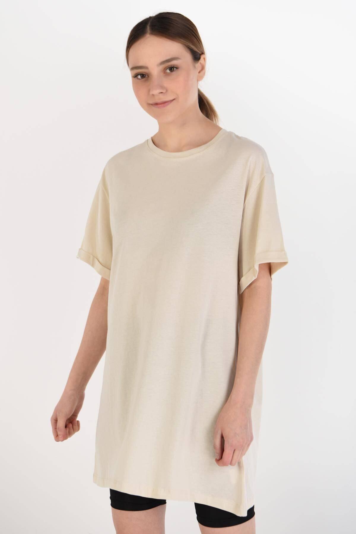 Addax Kadın Taş Basic Tişört P0341 - B7 ADX-0000022048 1
