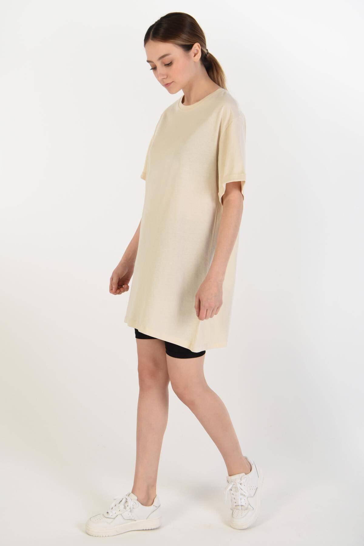 Addax Kadın Taş Basic Tişört P0341 - B7 ADX-0000022048 2