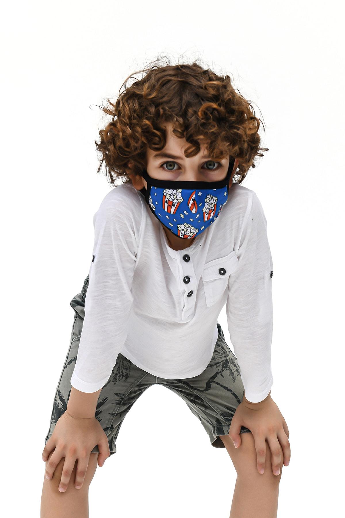 Etnik Esintiler TM018K Maske Popcorn