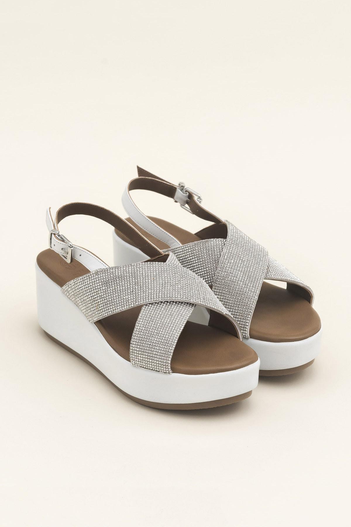Elle Shoes SISSEL Beyaz Sandalet 20YLT123059 2