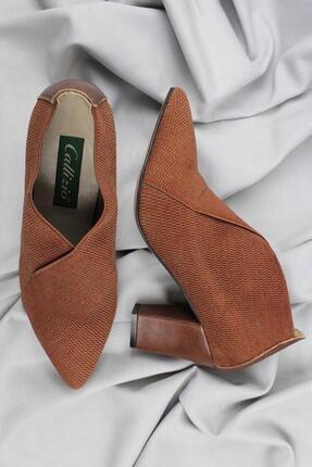 CZ London Hakiki Deri CZ London Kadın Topuklu Ayakkabı