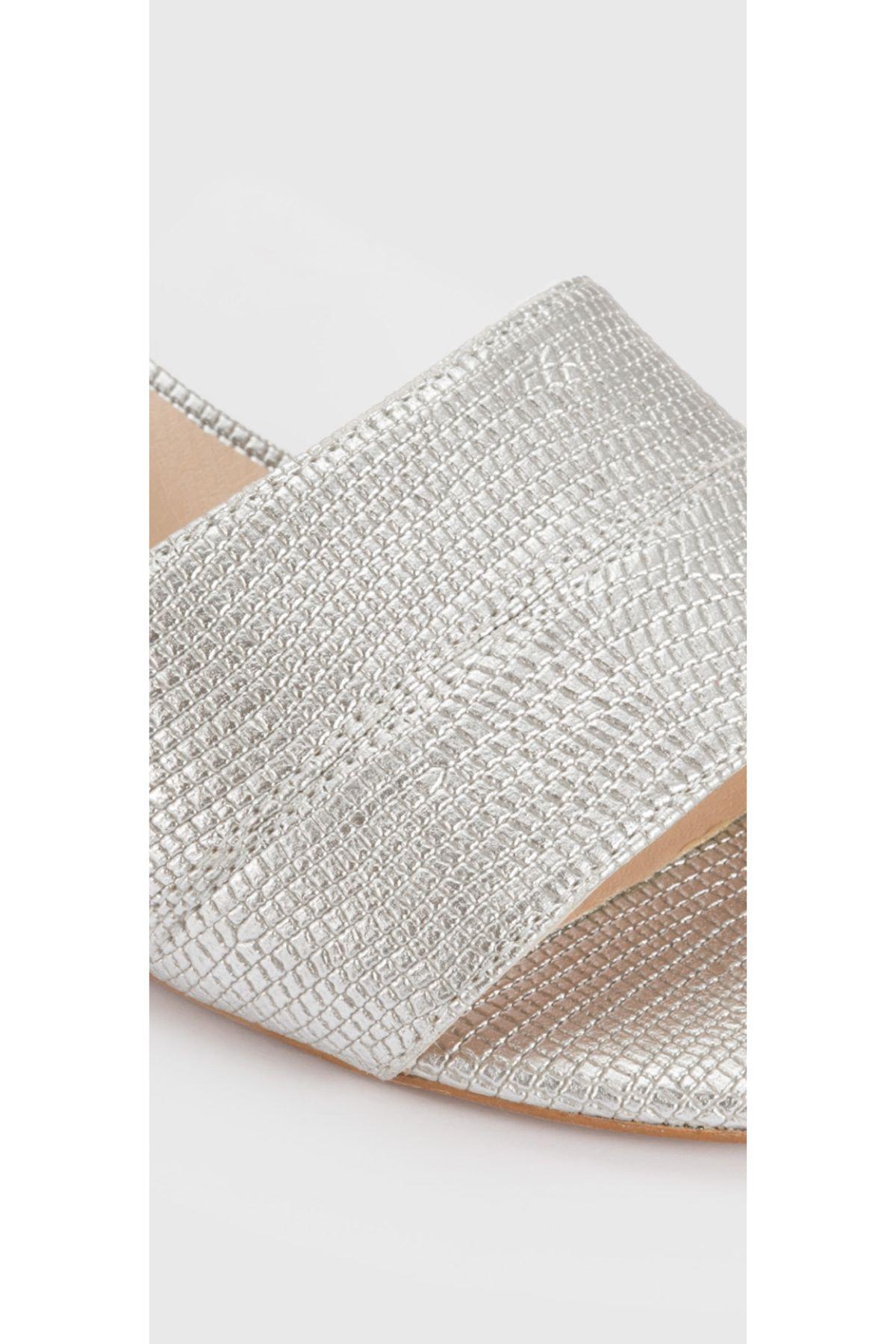 Aldo CANDY-TR - Orta Topuklu Gümüş Kadın Sandalet 2