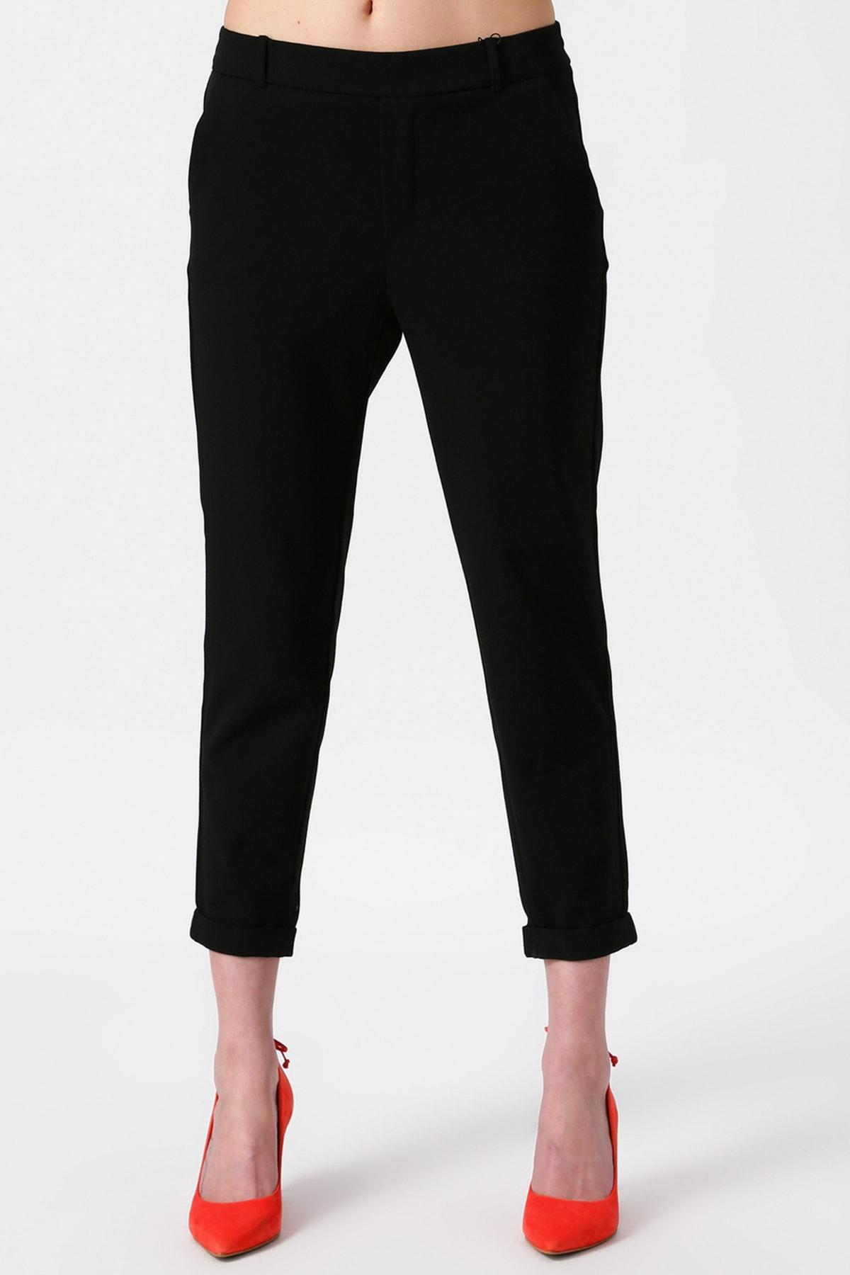 Vero Moda Kadın Siyah Salaş Desensiz Pantolon 10204396 VMMAYA 2