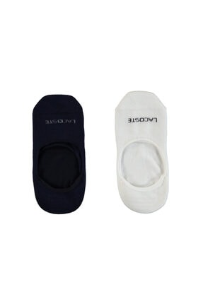 Lacoste Unisex Beyaz - Lacivert 2'li Çorap RA0716