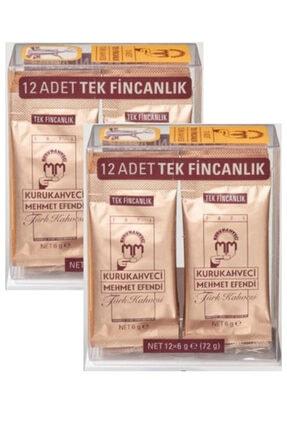 Mehmet Efendi Kurukahveci Türk Kahvesi 12x6 G Tek Içimlik Folyo Ambalaj X 2 Adet