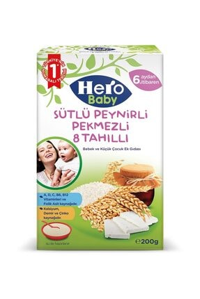 Hero Baby Sütlü Peynirli Pekmezli 8 Tahıllı 200 gr