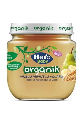Hero Baby Organik Muzlu Armutlu Yulaflı 120 gr