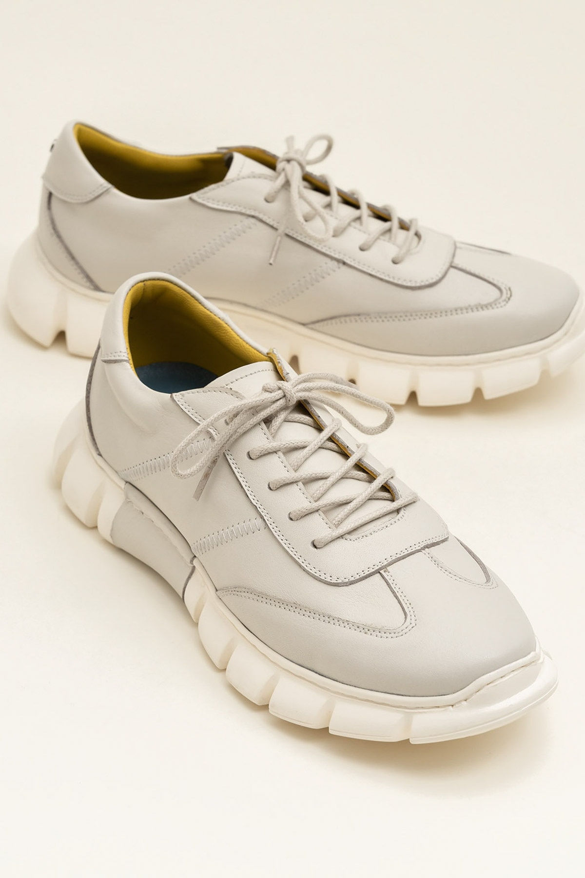 Elle Shoes RAJU Hakiki Deri Bej Erkek Ayakkabı 1