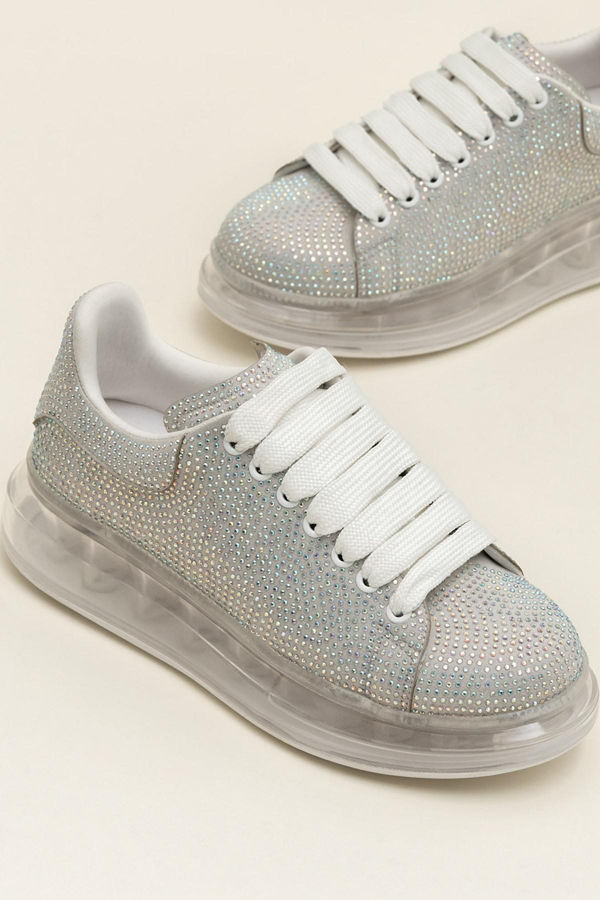 Elle Shoes Destınya Gümüş Kadın Sneaker 20Ysdmo118-1 1