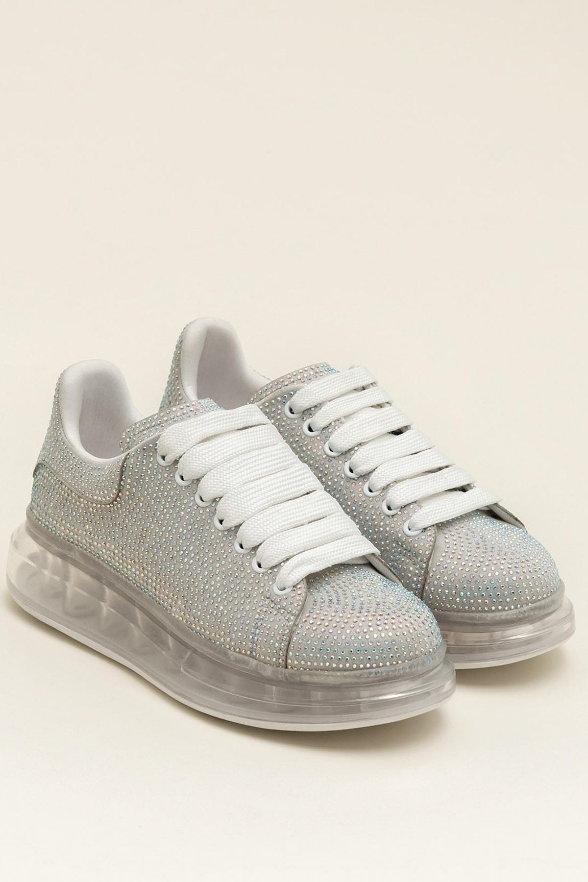 Elle Shoes Destınya Gümüş Kadın Sneaker 20Ysdmo118-1 2