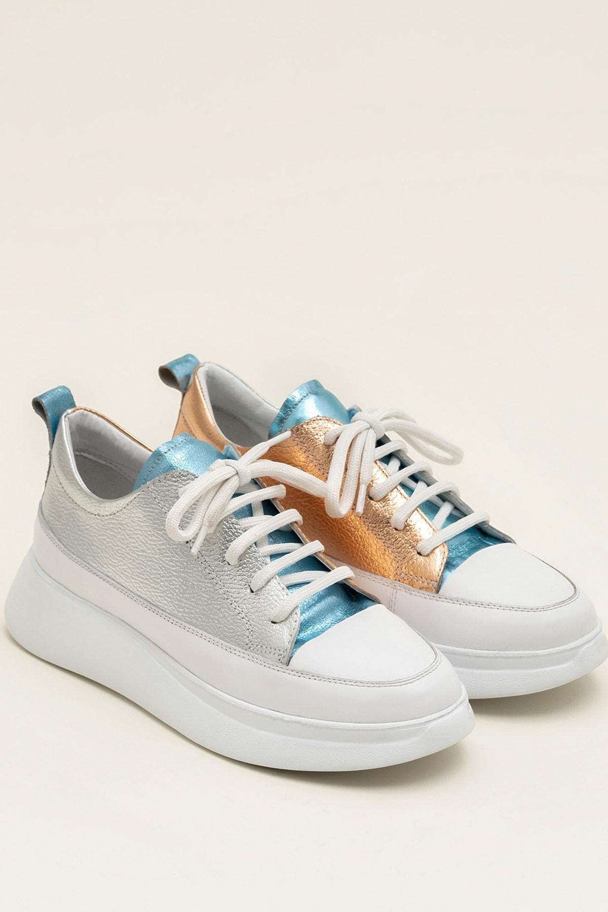 Elle Shoes FANCY Metalık Kombin Kadın  Sneaker 20YSE192404 2