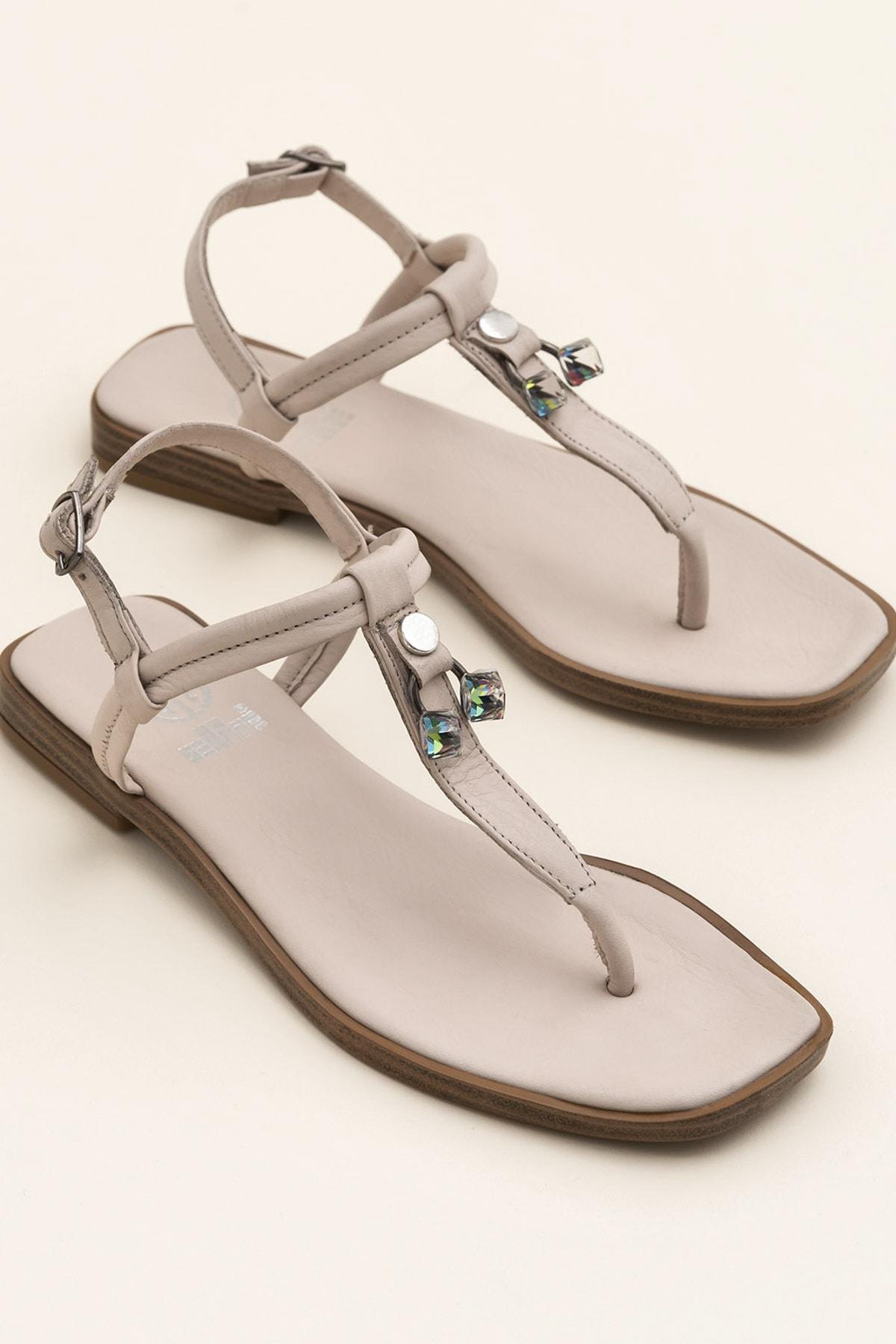 Elle Shoes DESPINA Bej Sandalet 20YEK3143732 1