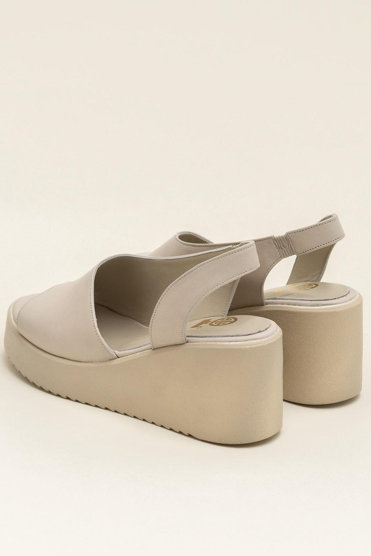 Elle Shoes SANDE Ecru Sandalet 20YCK20073 2