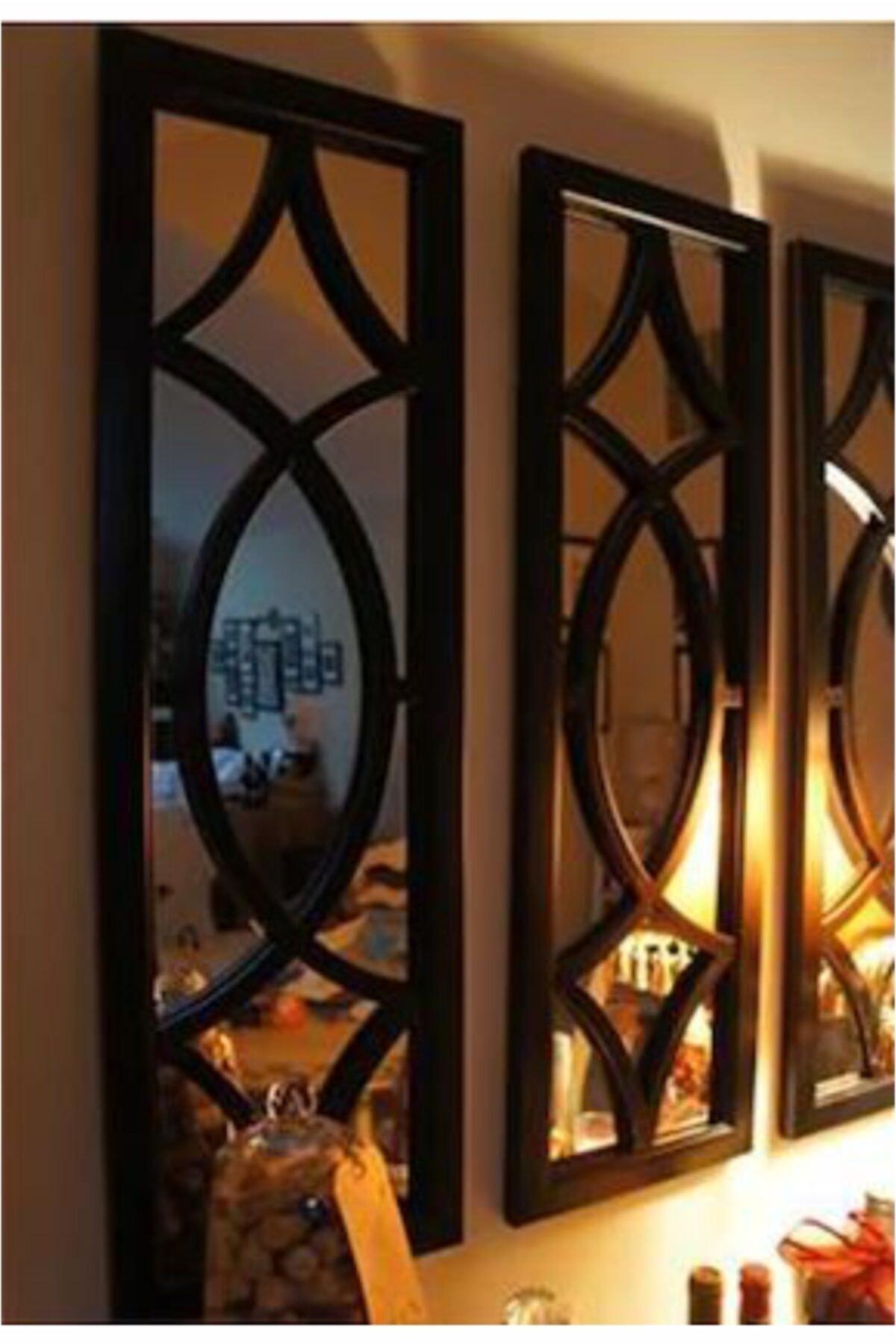 ahşapdekor Dekoratif Modern Üçlü Ayna 2