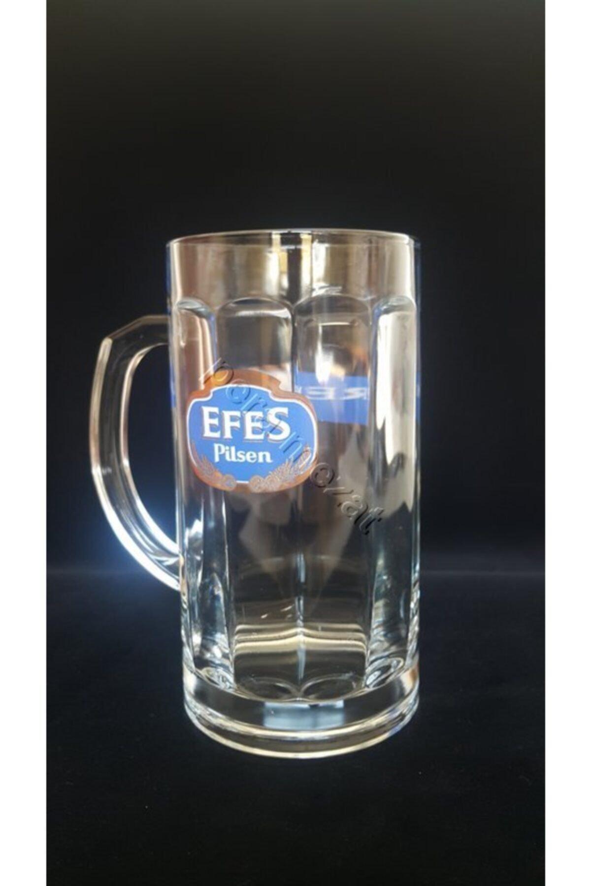 Paşabahçe Efes Pilsen Kulplu Bardak Büyük Boy Bira Bardağı 1