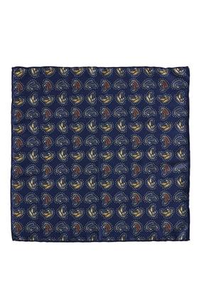 ALTINYILDIZ CLASSICS Erkek Lacivert-Mavi Desenli Cep Mendili