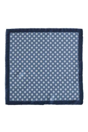 ALTINYILDIZ CLASSICS Erkek Mavi-Beyaz Desenli Cep Mendili