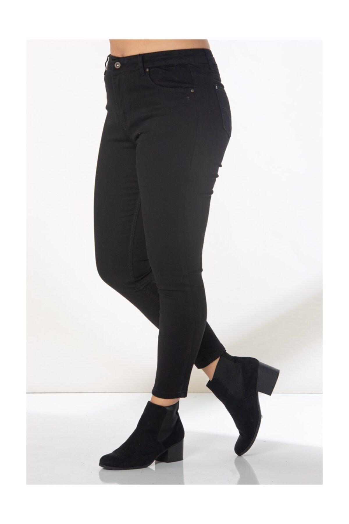 RMG Kadın Siyah Kot Pantolon 1465 2