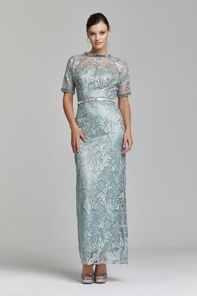 RENGIN Kolları Beli Yakası Taş Işli Elbise