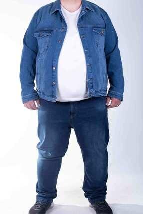 ZENET JEANS Erkek Mavi  Süper Battal Soft Kot Ceket