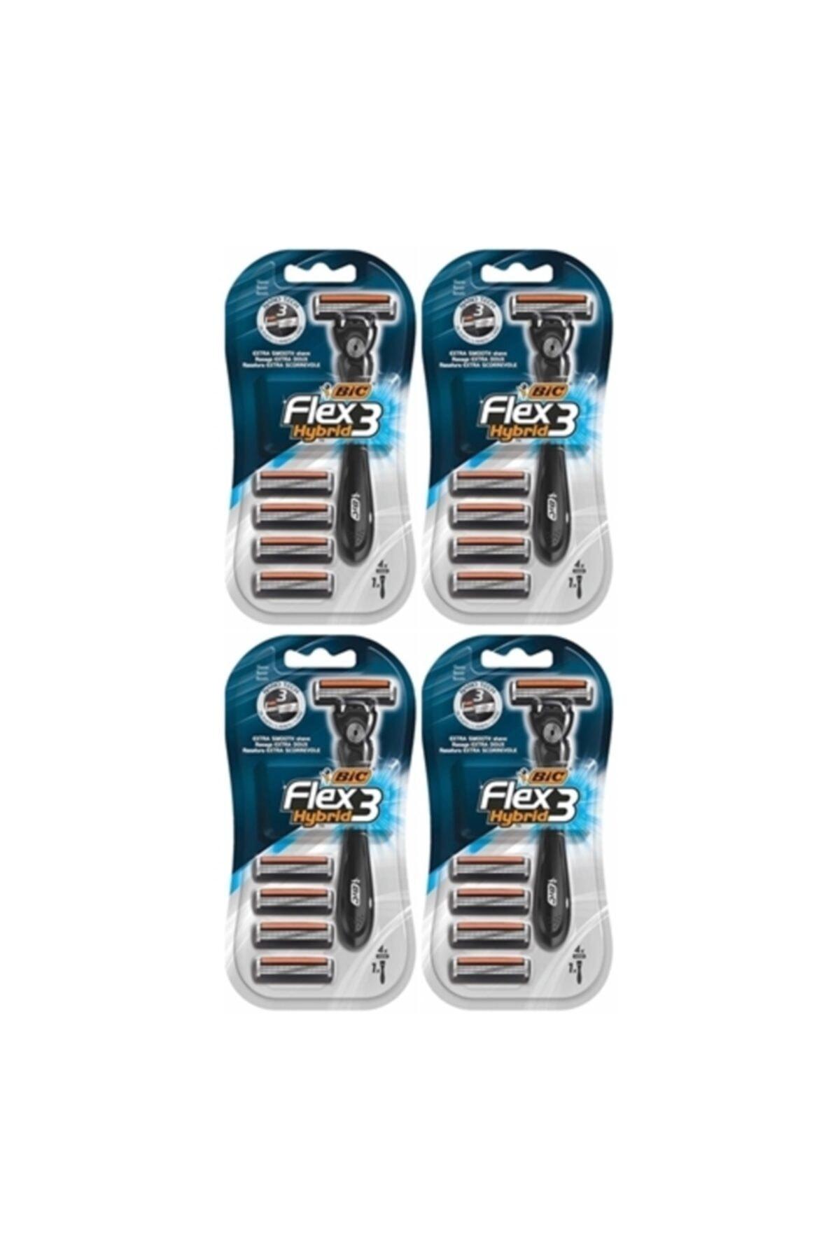 Bic Flex3 Hybrid Tıraş Bıçağı 4 Yedek 1 Sap X 4 Adet 1