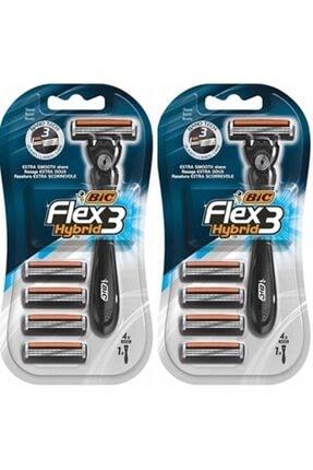 Bic Flex3 Hybrid Tıraş Bıçağı 4 Yedek 1 Sap X 2 Adet